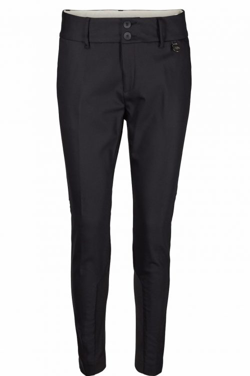 Sort dressbukse med stretchfelt ved ankel Mos Mosh - 112620 blake night pants