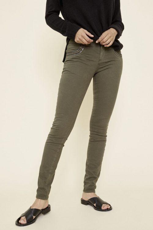 Army 'Naomi Shine' bukse med pynt ved lomme Mos Mosh - 123950 naomi shine