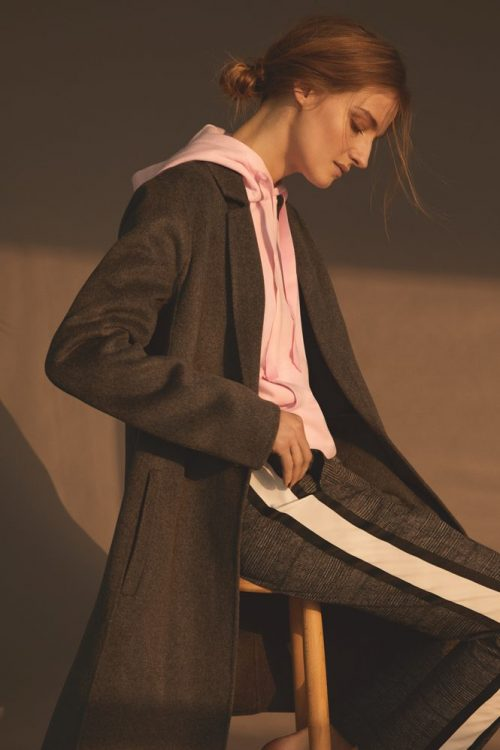 Gråsortbrun bukse med hvit stripe i sidene Gustav - 28008-6536