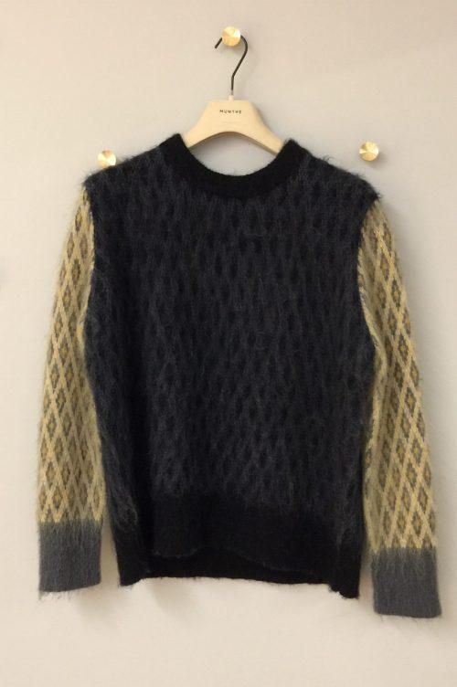 Indigo genser med harlikenruter Munthe - vocal