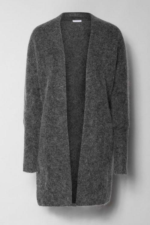 Charcoal melange lang mohairmix cardigan Cathrine Hammel - 1024 soft denim schal
