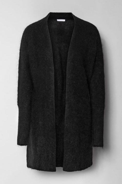 Sort lang mohairmix cardigan Cathrine Hammel - 1024 soft denim schal