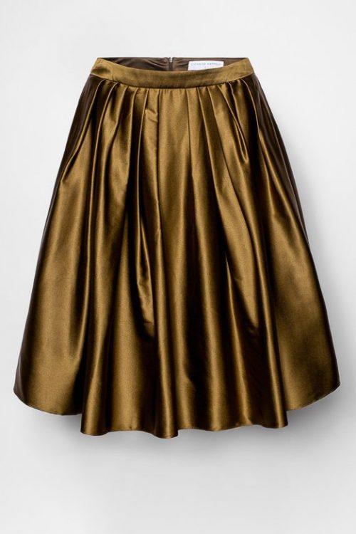 Army silke vippeskjørt Cathrine Hammel - 1054 floating skirt