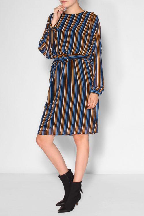 Cognacblåstripet kjole Gestuz - riba dress
