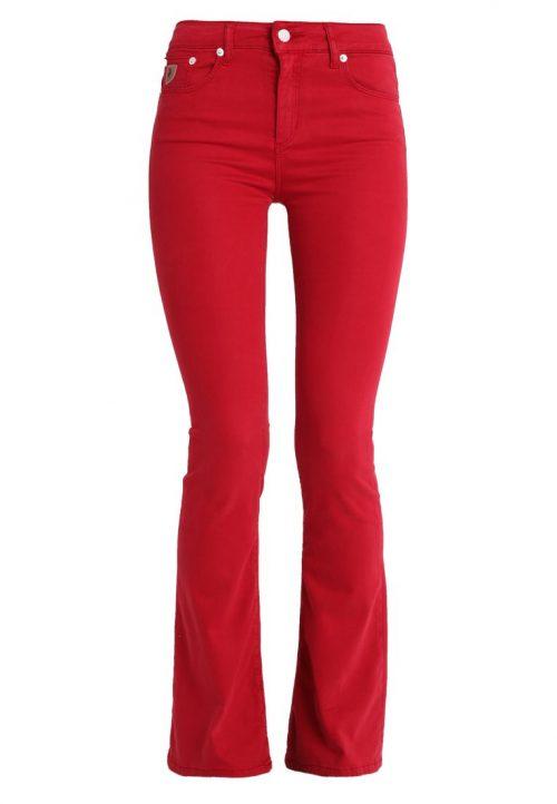 Rød viskose 'Raval' flare bukse Lois Jeans - Raval lea