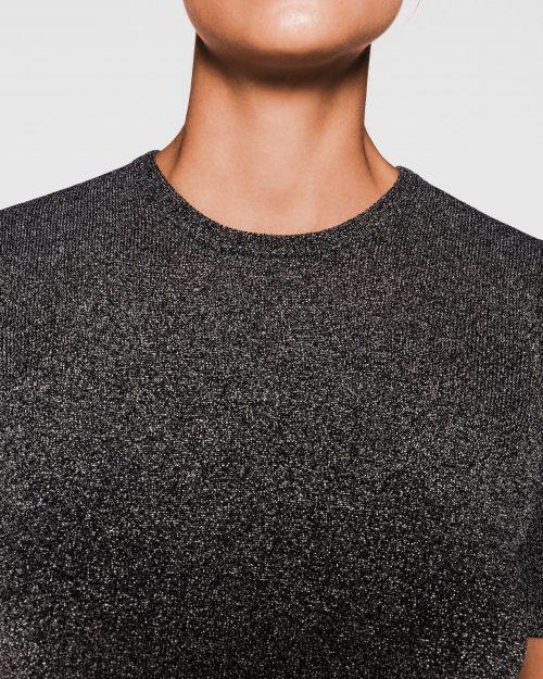 Grå glitter lurex topp og viddebukse One & Another - rio top og rio pants Toppen kan brukes begge veier.