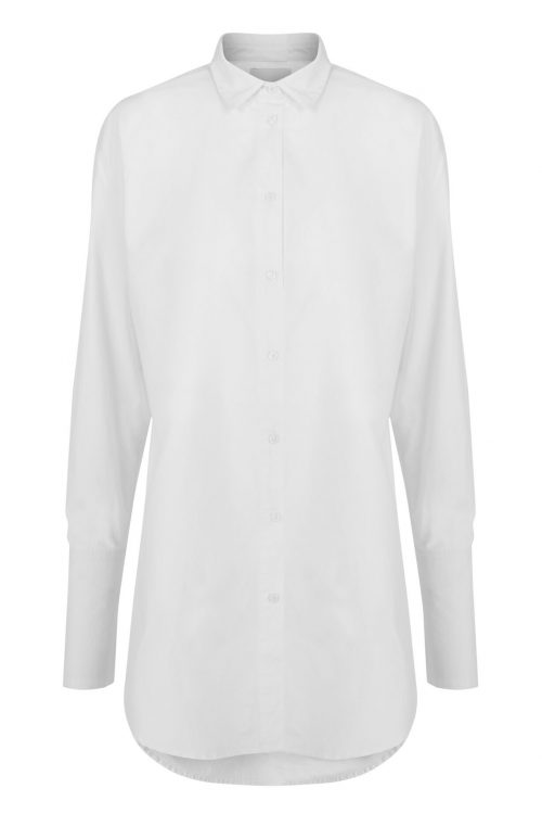 Hvit trendy oversized storskjorte One & Another - nice shirt