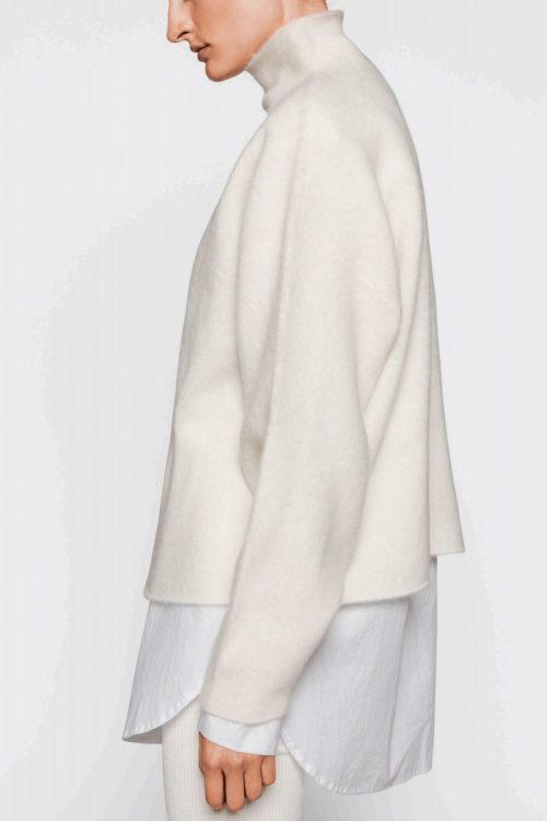 Offwhite flaggermusgenser i alpakkamix One & Another - san francisco swether