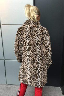 Leopard fuskejakke NKN Nekane - bianca.el