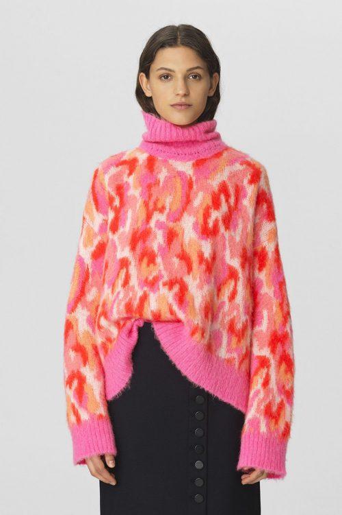Rosaorange oversized kidmohairmix pologenser By Malene Birger - Q66148001 lallii swether