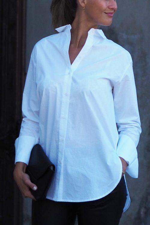 Hvit trendy oversized storskjorte One & Other - nice shirt