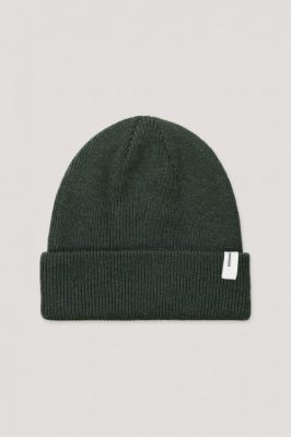 Gråblå, grønn eller sort ullmix lue Samsøe Samsøe - 2280 beanie hat