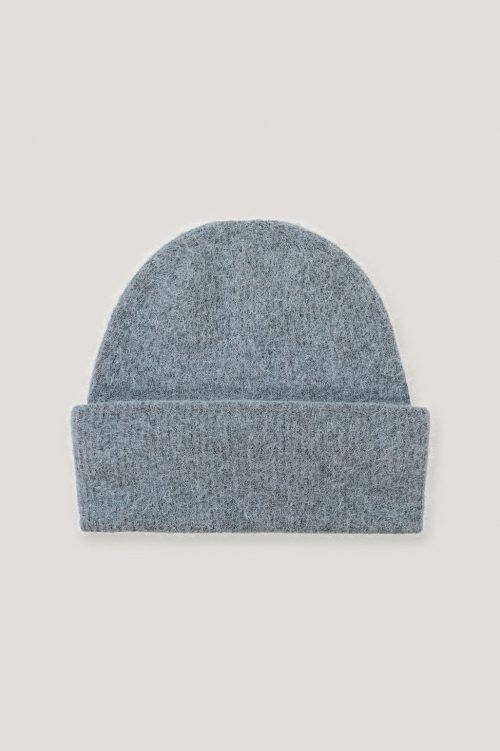 Blågrå, ecru eller sort mohairmix lue Samsøe Samsøe - 7355 nor hat
