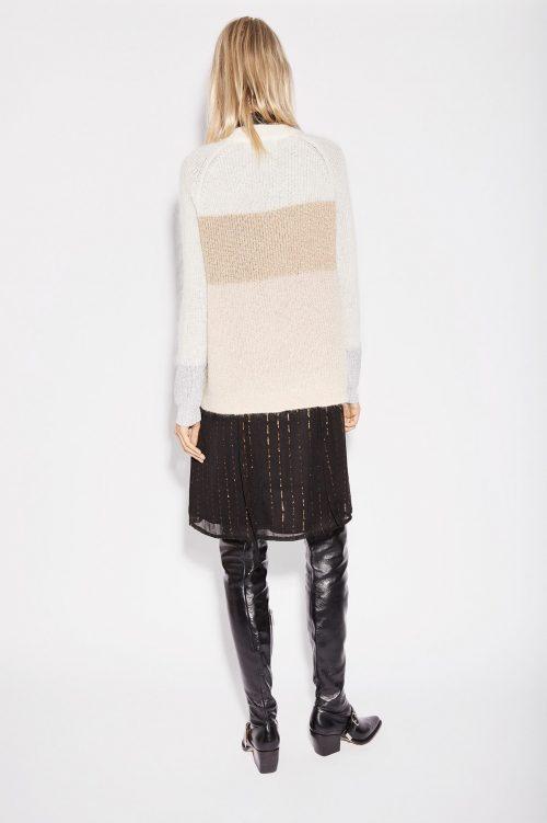 Offwhite beige genser med gullfelt Munthe - Nanna