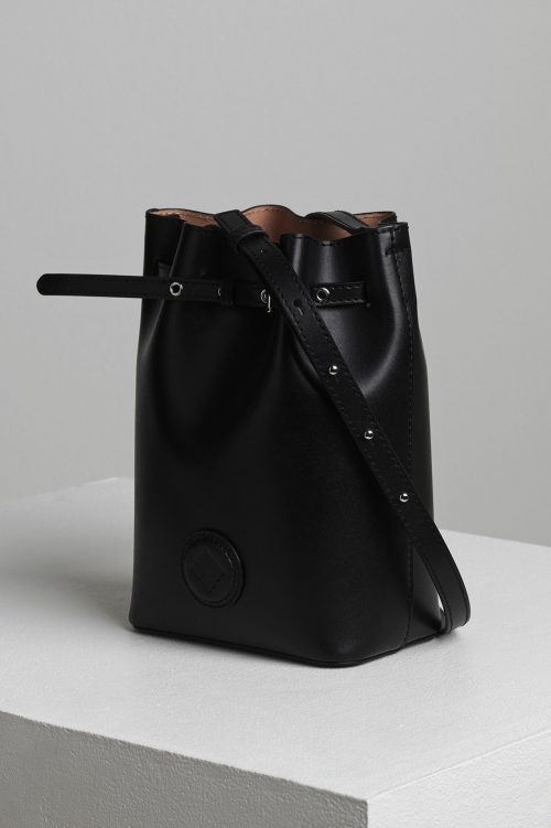 Sort eller brun 'Mini Bucket Bag' By malene Birger - mini bucket bag