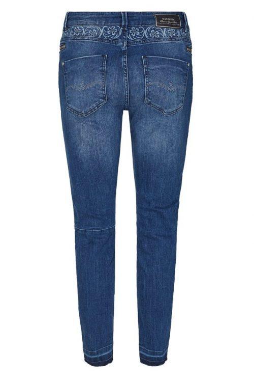 Blue denim jeans med mønster bak Mos Mosh - 126620 sumner free jeans