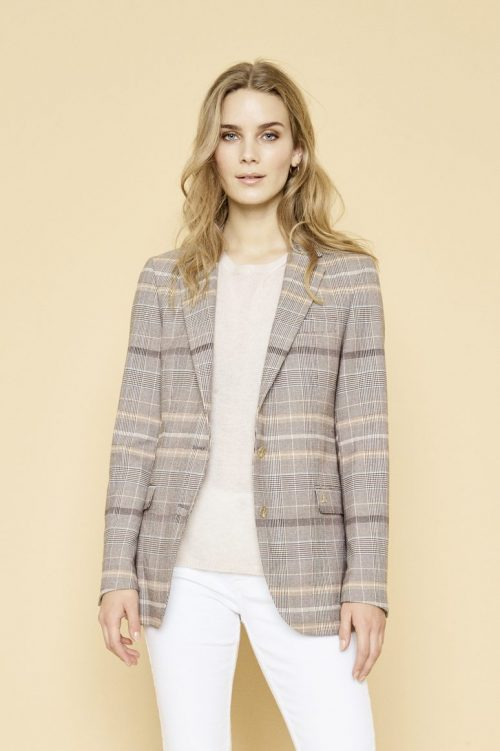 Brown check blazer Mos Mosh - 127120 mary fay blazer