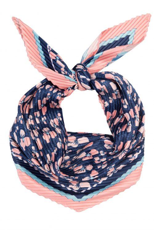 Marine med rosa mønstret hals-tørkle Dea Kudibal - scarf sease pink