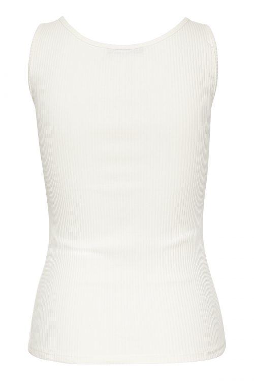 Hvit, beige eller sort ribbet bomull singlett Gestuz - 2547 rolla tanktop