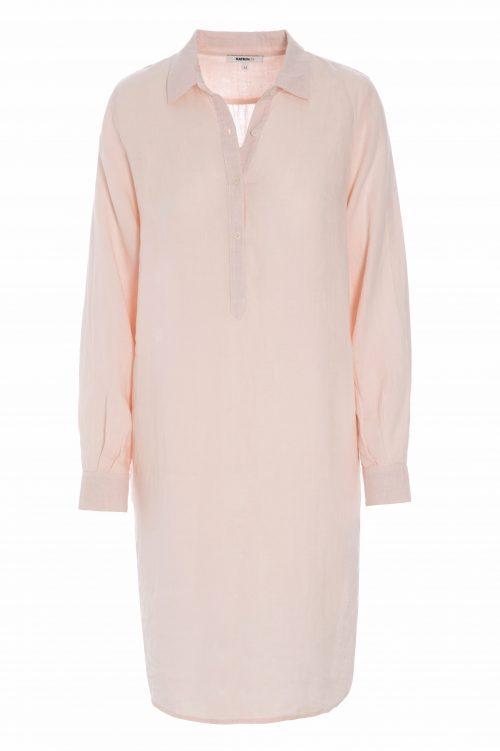 Dus rosa eller lyseblå 100% lin skjortekjole Katrin Uri - 675 linnen shirt dress