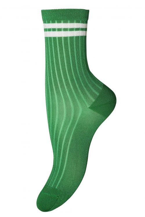 Lavendel, navy, sterk grønn eller rød ankel 'Mara' med striper MP Denmark - 77569_662
