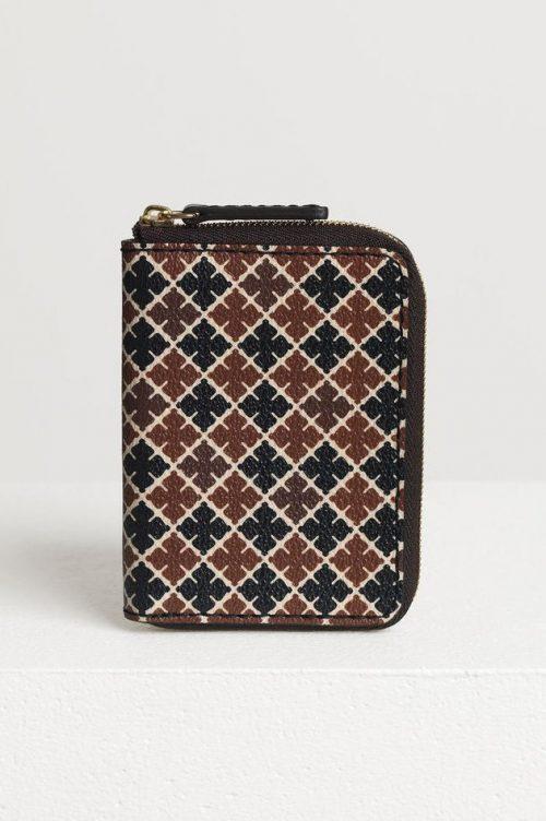 Brunsortmønstret lommebok By Malene Birger - Elia purse Q65508064 11 x 8 cm