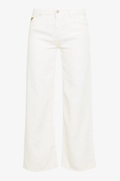 Ecru eller grønn vid kort bukse av bomull/lin Lois Jeans - new culotte 5798 linnen flow
