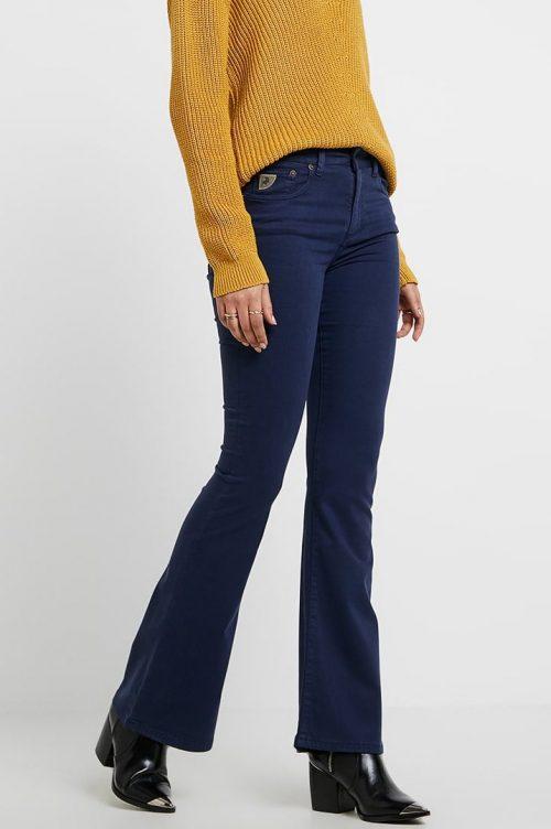 Blå 'Raval' flare viskose bukse Lois Jeans