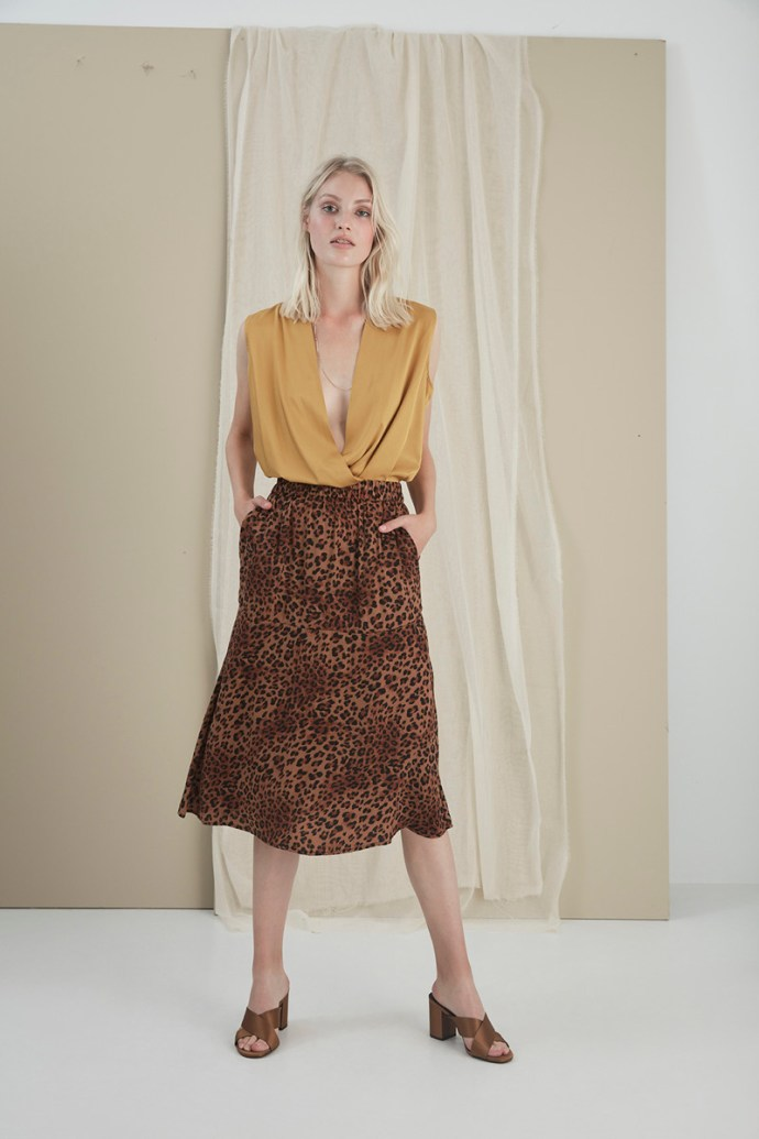 Brown leopard skjørt Gestuz - 3237 jane gz skirt