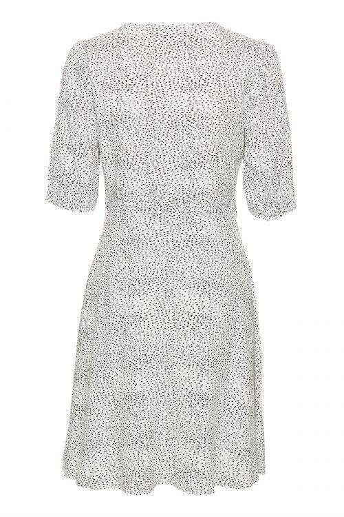 Hvitmønstret kjole Gestuz - 3289 cathrin gz dress