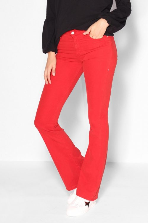 Rød supermyk viskose 'Raval' flare bukse Lois Jeans
