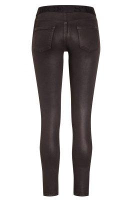 Brun coated smal bukse 'Philia' med strikk i liv Cambio - 7002 0001-13 philia 30