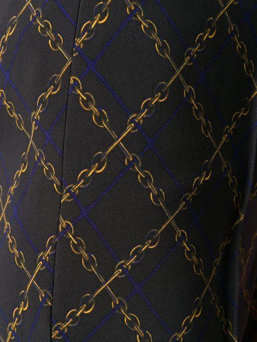 Sort techno 'Ros' flare bukse med hermes-lenker Cambio - 6789 0350-01 ros flared 34