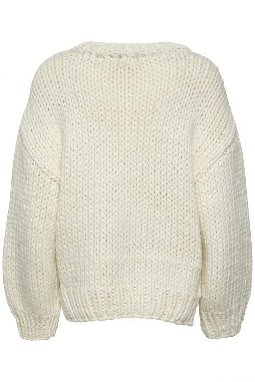 Offwhite håndstrikket ullmiks genser Gestuz - daia pullover 3882