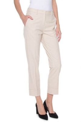 Krem eller sort bukse med oppbrett Cambio - 6233 0300-00 kristal 27