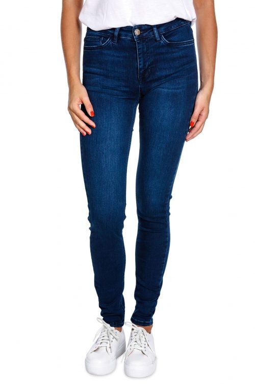 Smal jeans high waist i nydelig stretch Mos Mosh - 129770 alli core jeans