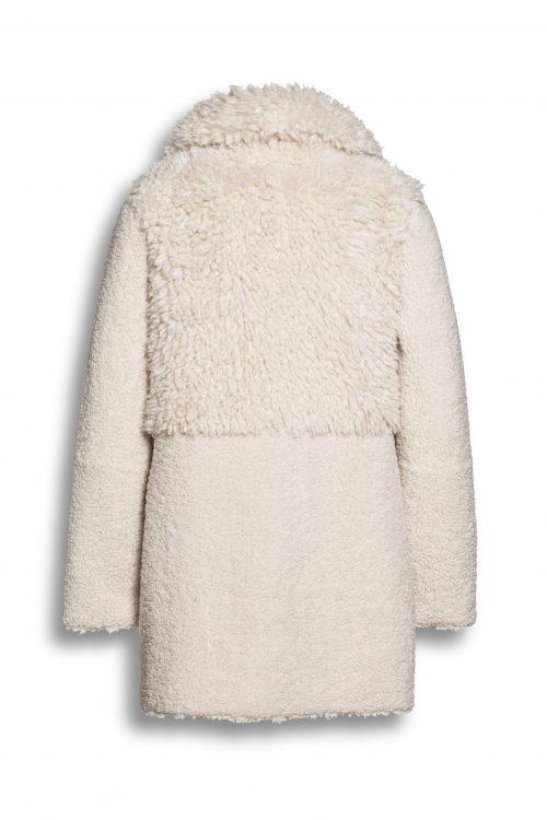 Krem eller sort fake saueskinnsjakke som er vendbar Beaumont Amsterdam - bm55.20.193 (vrangen)