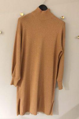 Sort eller camel cashmere/bomull strikkekjole One & Other - della