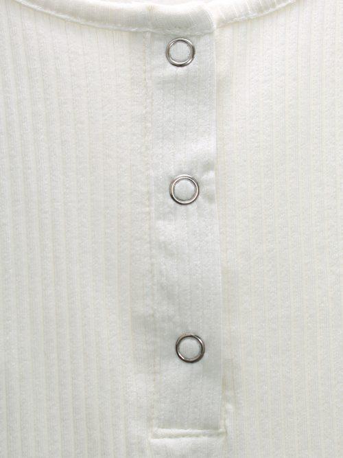 Hvit eller sort ribbet bomull singlett Gestuz - rolla tanktop