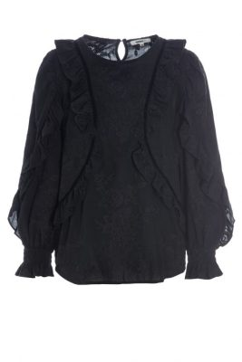 Sort trendy bomull bluse Katrin Uri - 450 becca garcia blouse