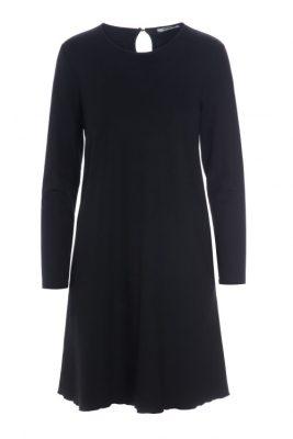 Sort jersey viskose a-shaped kjole Katrin Uri - 610 kidman a-shaped dress