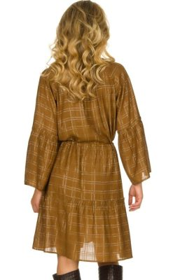 Cognac kjole Munthe - deep