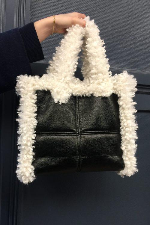 70 talls inspirert veske Stand Studio - lolita shearling bag 60770-9030