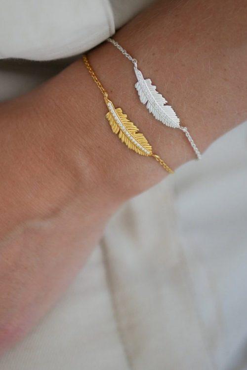 Armbånd med fjær Enamel Copenhagen - bracelet Fira