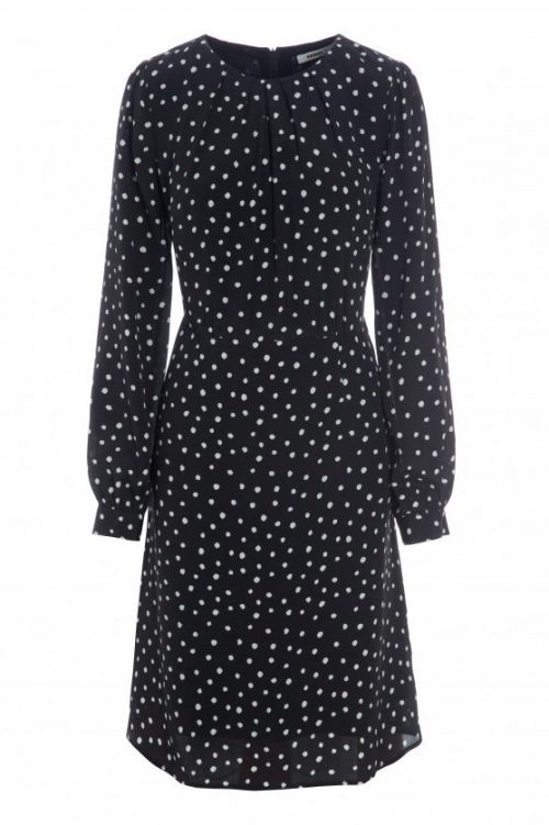 Sort med hvite dots silke/viskose kjole Katrin Uri - 645 kate dots dress