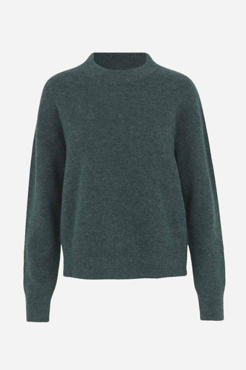 Dark blue melange, white melange eller grønn alpakkamix genser Samsøe - 7355 anour o-n