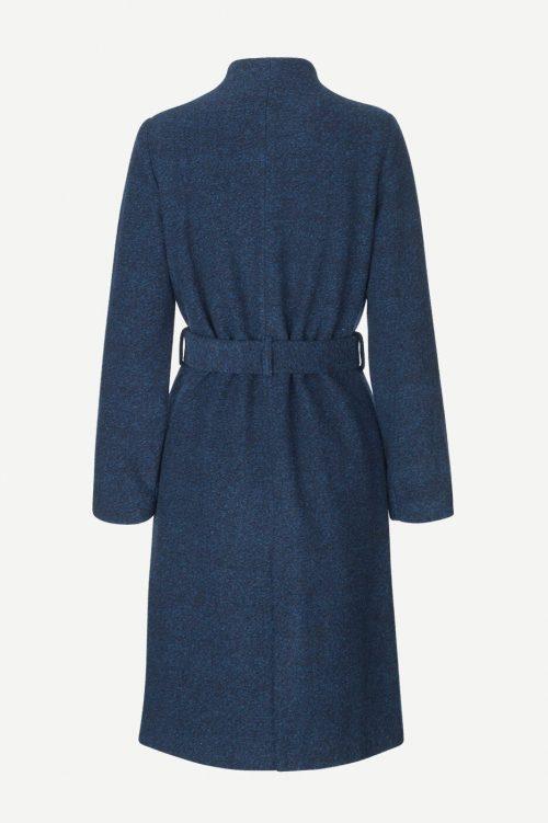Dark blue ullkåpe med kinahals Samsøe - 10146 christa coat