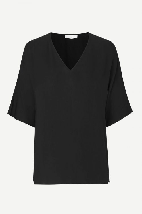 Sort viskose topp Samsøe - 8083 joy blouse