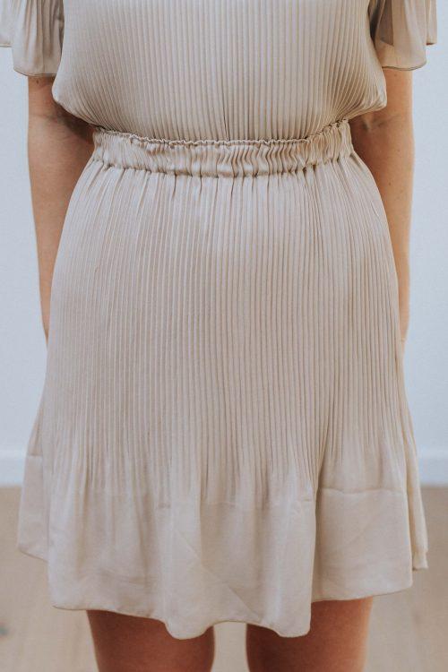 Sand eller sort plisse skjørt Cathrine Hammel - 315.120 miami short skirt