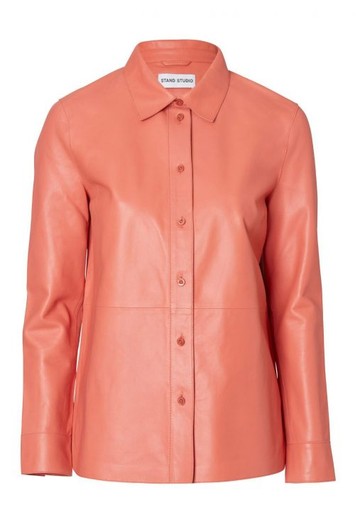 Sort eller light coral lammeskinn skjorte Stand Studio - Gabi shirt